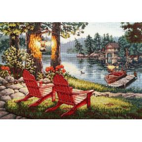 Набор для вышивания крестом Classic Design Отдых на озере 4499