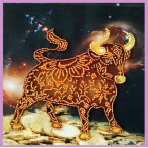 Набор для вышивания Картины Бисером Символ года БЫК   Р-424
