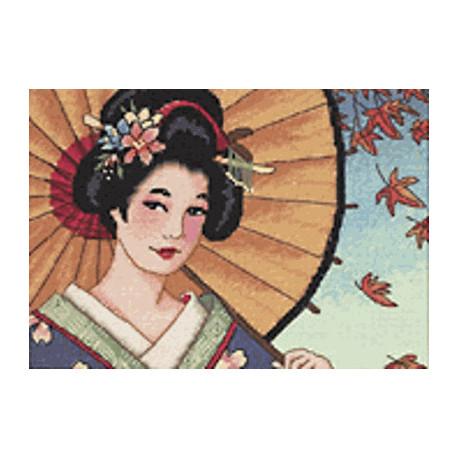Набор для вышивания крестом Dimensions 65036 Geisha Beauty фото