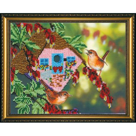 Набор для вышивания бисером Абрис Арт АВ-079 В саду 2 фото