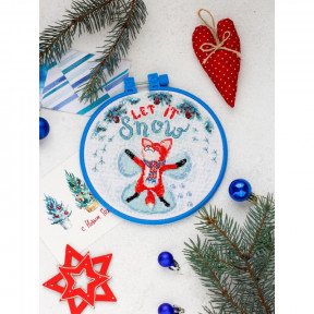 """Набор для вышивания крестом Абрис Арт """"Снежный ангел"""" АНМ-023"""
