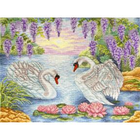 Набор для вышивания крестом Марічка Пара лебедей НКА-016