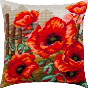 Набор для вышивки подушки Чарівниця Маки V-308