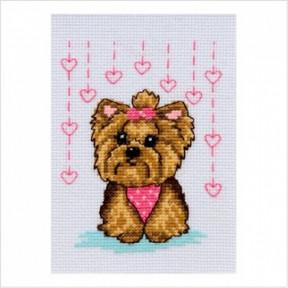 Набор для вышивания нитками ВДВ Собачка М-0225