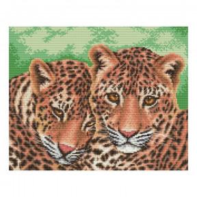 Набор для вышивания нитками ВДВ Леопарды М-0999