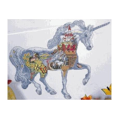 Набор для вышивания Design Works 2345 Magical Unicorn фото