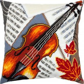 Набор для вышивки подушки Чарівниця Скрипка  V-319
