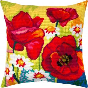 Набор для вышивки подушки Чарівниця Натюрморт с цветами V-323