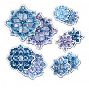 Набор для вышивания крестом Риолис Украшение Снежинки 1889АС