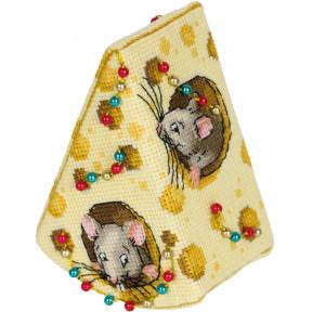 Набор для вышивки крестом Panna Сыр для мышек ИГ-7168