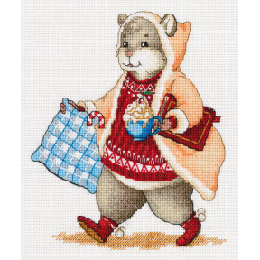 Набор для вышивки крестом Panna Хомяк с какао Ж-7138