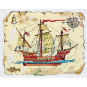 Набор для вышивки крестом Panna Роза ветров КР-7069