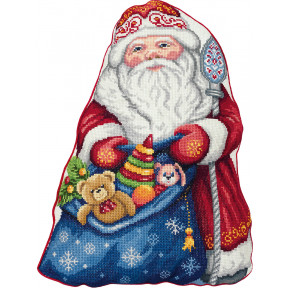 Набор для вышивки крестом Panna Подушка. Дед Мороз ПД-7186