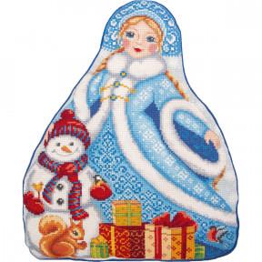 Набор для вышивки крестом Panna Подушка. Снегурочка ПД-7203