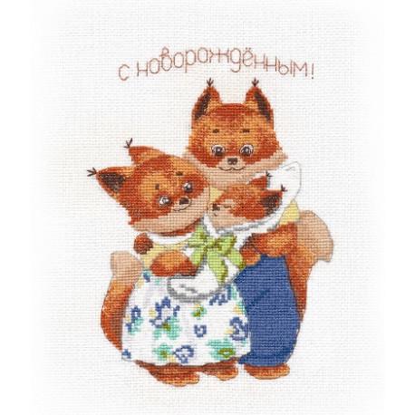 """Набор для вышивки крестом Овен """"Счастливая семья"""" 1338о фото"""