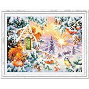 Набор для вышивки крестом Чудесная игла Зимнее утро 110-700