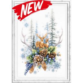 Набор для вышивки крестом Чудесная игла Дух зимнего леса 200-017
