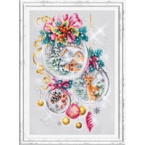 Набор для вышивки крестом Чудесная игла Рождественская сказка 100-247