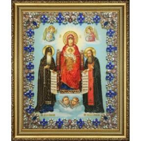 Набор для вышивания Картины Бисером Икона Божией Матери Свенская-Печерская   Р-427