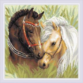 """Набор Алмазная вышивка Риолис """"Пара лошадей"""" АМ0039"""