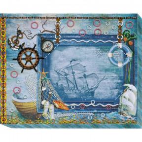 Фоторамка Сокровища моря Абрис Арт Набор для вышивания бисером АР-004