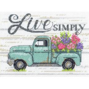 Цветочный грузовик Dimensions Набор для вышивания крестом 70-65211