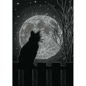 Черная лунная кошка Dimensions Набор для вышивания крестом 70-65212
