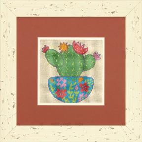 Счастливый кактус Dimensions Набор для вышивания крестом 71-07248