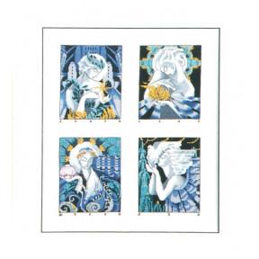 Deco Spirits / Духи Деко Mirabilia Designs Схема для вышивания MD19
