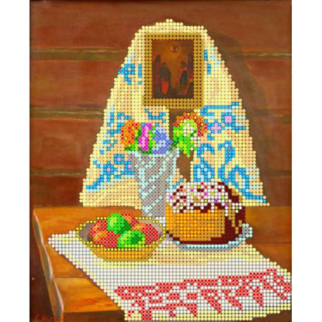Схема для вышивания бисером Абрис Арт АС-025 Пасха фото