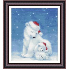 Набор для вышивания  Kustom Krafts 98057 Рождество полярных медведей