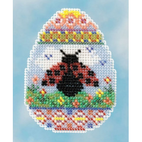 Ladybug Egg / Яйцо с Божьей коровкой Mill Hill Набор для вышивания крестом MH181615