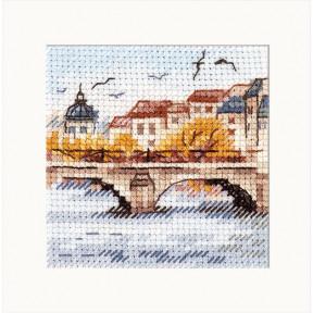 """Набор для вышивки крестом Алиса """"Осень в городе. Чайки над мостом"""" 0-216"""