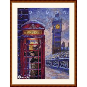 Visit London Мережка Набор для вышивания крестом К-182