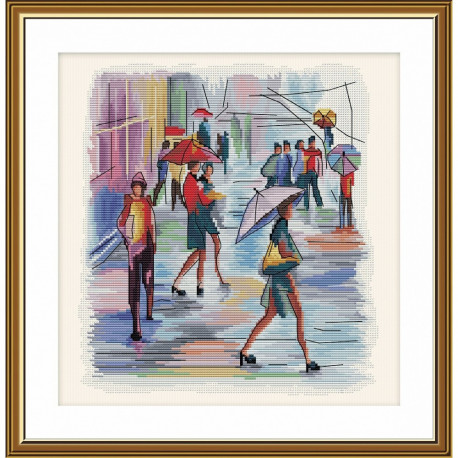 Я нарисую дождь Нова Слобода Набор для вышивания крестом НВ3103