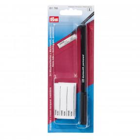 Этикетки для белья с маркировочным карандашом черного цвета Prym 611795