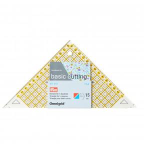 Проворный треугольник с сантиметровой шкалой, для квадрата, до 15 см Prym 611314