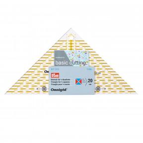 Проворный треугольник с сантиметровой шкалой, для квадрата, до 20 см Prym 611313
