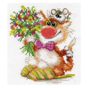 Набор для вышивки крестом Алиса 0-108 Спешим поздравить!