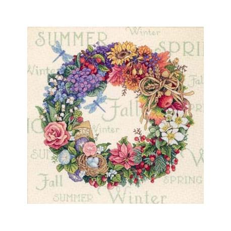 Набор для вышивки крестом Dimensions 35040 Wreath of all Season