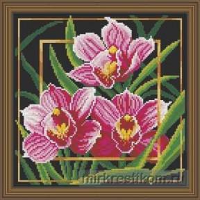 """Набор для вышивания крестом Искусница """"Цветок. Орхидея"""" 566"""