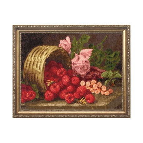 Набор для вышивки Золотое Руно СМ-013 Розы и Малина фото