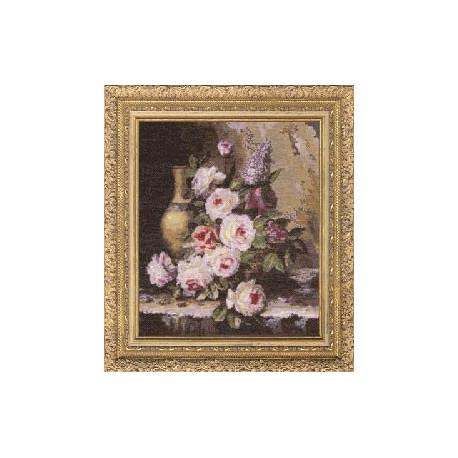 Набор для вышивки крестом Золотое Руно ГН-003 Мраморные Розы
