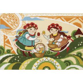 Счастливой пасхи Набор для вышивания крестом Crystal Art ВТ-250