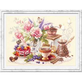 На чашечку кофе...? Набор для вышивки крестом Чудесная игла 120-203
