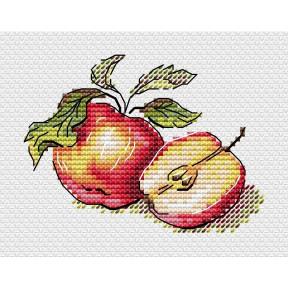 Сочные яблочки Набор для вышивки крестом МП Студия М-596