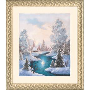 Зима Набор для вышивания бисером Чарівна Мить Б-650