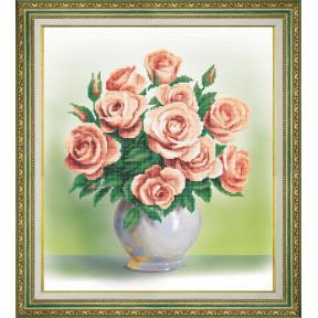 Кремовые розы Набор для вышивания бисером Чарівна Мить Б-761