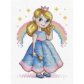 Принцесса Набор для вышивки крестом МП Студия М-607