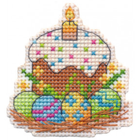 Магнит.Пасха Овен Набор для вышивки крестом 1382о